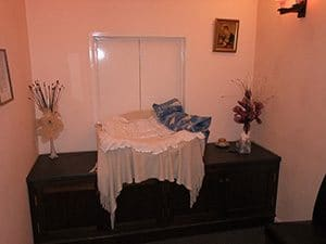 Individual reception area at a pet crematorium